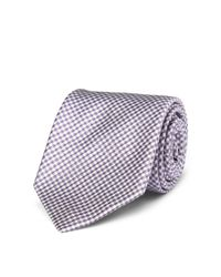Polo Ralph Lauren - Purple Gingham Silk Narrow Tie for Men - Lyst