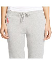 Ralph Lauren | Gray Pink Pony French Terry Jogger | Lyst