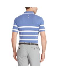 Ralph Lauren - Blue Custom Fit Tech Pique Polo for Men - Lyst
