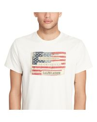Denim & Supply Ralph Lauren - Natural Flag-patch Cotton Jersey Tee for Men - Lyst