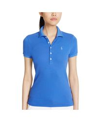 Ralph Lauren Golf - Blue Slim-fit Cotton Mesh Polo - Lyst