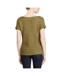 Ralph Lauren - Green Lauren Textured Short-sleeve Sweater - Lyst