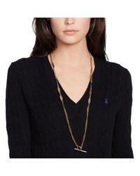 Ralph Lauren | Black Polo Cable-knit Cotton Jumper | Lyst