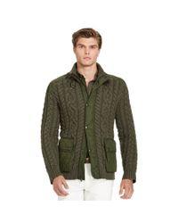 Polo Ralph Lauren | Green Hybrid-jacke Mit Reißverschluss for Men | Lyst