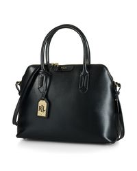 Ralph Lauren | Black Dome Leather Satchel | Lyst