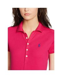 Polo Ralph Lauren - Pink Skinny-fit Stretch Polo Shirt - Lyst