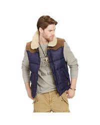 Denim & Supply Ralph Lauren | Blue Ripstop Down Vest for Men | Lyst