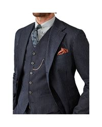 RRL - Blue Classic Herringbone Vest for Men - Lyst