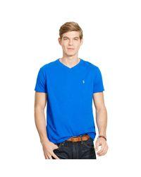 Polo Ralph Lauren | Blue Cotton Jersey V-neck T-shirt for Men | Lyst