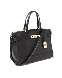 Ralph Lauren - Black Leather Darwin Satchel - Lyst