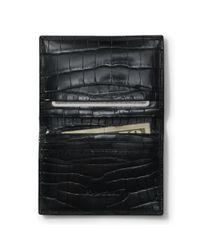 Ralph Lauren - Black Slim Alligator Card Case for Men - Lyst