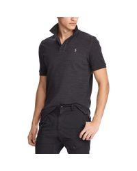 Polo Ralph Lauren - Black Classic Fit Mesh Polo Shirt for Men - Lyst