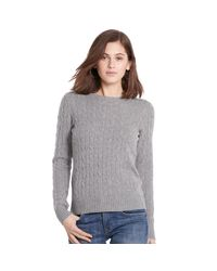 Polo Ralph Lauren - Gray Slim-fit Cabled Cashmere - Lyst