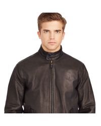 Polo Ralph Lauren | Black Leather Full-zip Jacket for Men | Lyst