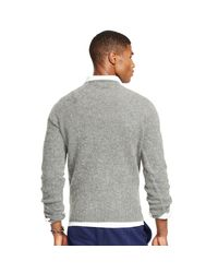 Polo Ralph Lauren - Gray Shetland Wool-cashmere Sweater for Men - Lyst