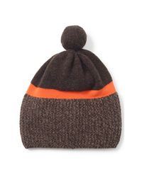 Polo Ralph Lauren | Brown Merino Wool Pom-pom Hat for Men | Lyst
