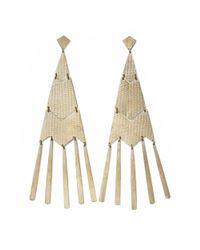 Ralph Lauren - Metallic Fringed Chevron Earrings - Lyst