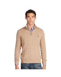 Polo Ralph Lauren | Natural Tussah Silk Half-zip Sweater for Men | Lyst