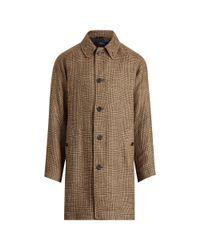 Polo Ralph Lauren - Brown Glen Plaid Balmacaan Topcoat for Men - Lyst