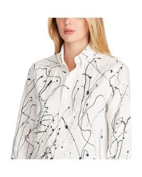 Polo Ralph Lauren - White Relaxed Painted Oxford Shirt - Lyst