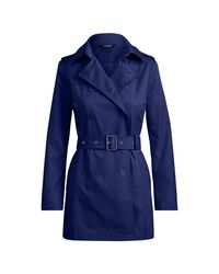 Ralph Lauren | Blue Double-breasted Trench Coat | Lyst
