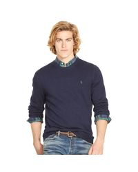 Polo Ralph Lauren | Blue Pullover Aus Baumwolle for Men | Lyst