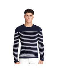 Polo Ralph Lauren | Blue Cashmere Crewneck Sweater for Men | Lyst