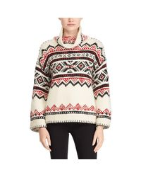 Polo Ralph Lauren - Multicolor Fair Isle Funnelneck Sweater - Lyst