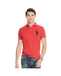 Polo Ralph Lauren - Red Cotton Interlock Polo Shirt for Men - Lyst