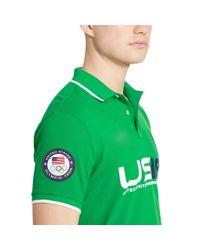 Polo Ralph Lauren - Green Team Usa Custom-fit Polo for Men - Lyst