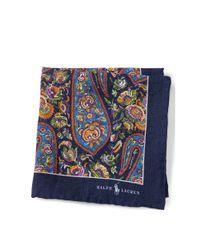 Polo Ralph Lauren - Blue Paisley Linen Pocket Square for Men - Lyst