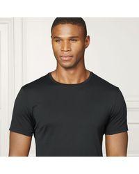 Ralph Lauren Purple Label - Black Cotton Lisle T-shirt for Men - Lyst