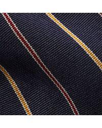 Polo Ralph Lauren - Blue Striped Silk Repp Narrow Tie for Men - Lyst