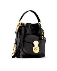 Ralph Lauren - Black Small Ricky Drawstring Bag - Lyst