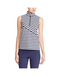 Ralph Lauren Golf - Blue Tailored Fit Striped Golf Polo - Lyst