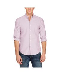 Polo Ralph Lauren - Purple Slim Fit Cotton Oxford Shirt for Men - Lyst