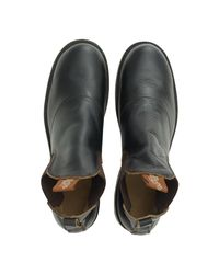 RRL - Black Leather Congress Work Boot for Men - Lyst