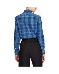 Polo Ralph Lauren - Blue Relaxed Plaid Twill Shirt - Lyst