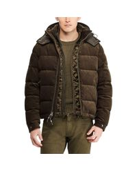 Ralph Lauren Purple Label Multicolor Rlx Corduroy Down Jacket for men