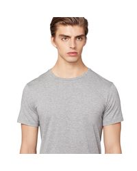 Ralph Lauren Purple Label - Gray Cotton Lisle T-shirt for Men - Lyst