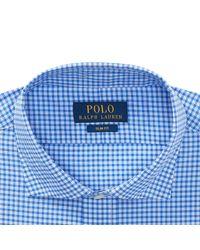 Polo Ralph Lauren - Blue Slim Fit Cotton Dress Shirt for Men - Lyst