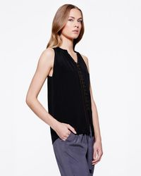 Ramy Brook | Black Sleeveless Patricia Top | Lyst