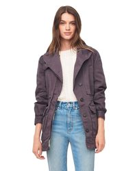 Rebecca Taylor - Purple La Vie Stretch Twill Military Coat - Lyst
