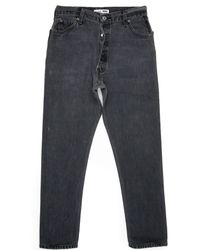 Re/done | Black High Rise Ankle Crop Ass Rip for Men | Lyst