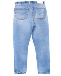 Re/done - Blue High Rise Ankle Crop - Lyst