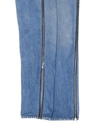 Re/done - Blue High Rise Ankle Crop Side Zip - Lyst