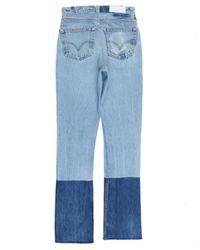 Re/done - Blue High Rise Stacking Jean - Lyst