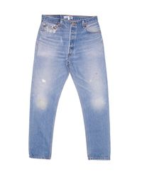 Re/done | Blue High Rise | Lyst
