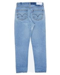 Re/done - Blue High Rise Ankle Crop for Men - Lyst
