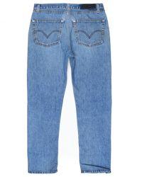 Re/done - Blue Slim Straight Crop for Men - Lyst